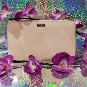 Kate Spade Light Peach Travel Zip Wallet